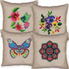 Design Works™ Punch Needle Pillow Covers Set/4 Punch Needle Was: $63.98    Now: $55.98