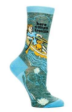 here comes trouble funny novelty socks by blue q