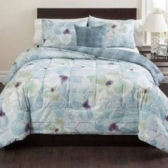 Calais Reversible Comforter Set in Blue - BedBathandBeyond.com