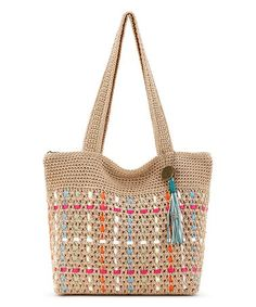 Love this Bamboo & Turquoise Riviera Tote on #zulily! #zulilyfinds
