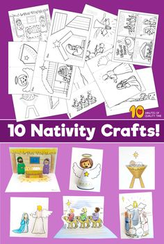 Pack of 10 Nativity Themed Printables