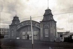 Exterior view of Palais de Danse building, showing front and side entrances, Lower Esplanade, St. - Part of Eric Milton Nicholls collection [picture]. Funny Animals, Animal Funnies, Melbourne Victoria, St Kilda, Barcelona Cathedral, Colonial, Taj Mahal, Entrance, Australia