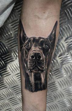 Great Doberman tattoo
