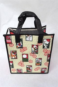 Tropical Paper Garden Hot/Cold Reusable Bag- Hanafuda Cream