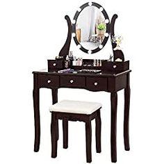 10 Best Modern Makeup Vanity Table Review 2020 Vanity Table Set, Makeup Table Vanity, Wood Vanity, Vanity Set, Dressing Table Storage, Dressing Table With Drawers, Makeup Dressing Table, Modern Makeup Vanity, Makeup Vanities