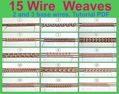 Wonderful Pics wire weaving patterns Popular Wire weave tutorial 15 Wire Weaves 2 and 3 base wires Bijoux Wire Wrap, Wire Wrapped Jewelry, Wire Jewelry, Jewlery, Wire Earrings, Handmade Jewelry, Copper Necklace, Jewelry Holder, Earrings Handmade