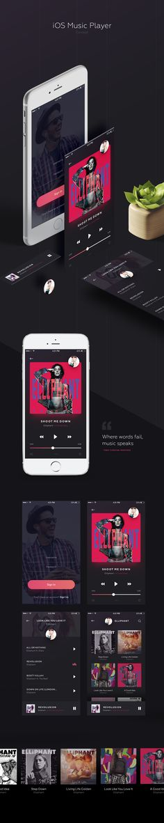 "Check out this @Behance project: ""Music Player App"" https://www.behance.net/gallery/44316197/Music-Player-App"