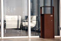 Bruna bin #urban #furniture #corten #steel
