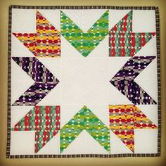 Modern Yardage Fresh Mini Club quilt posted at Craft Buds