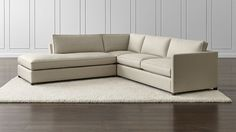 Dryden 3-Piece Sectional | Crate and Barrel