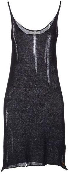 PIERRE BALMAIN Short Black Distressed Ladder Vest Dress #style #black #fashion