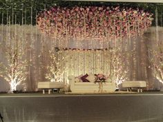 Do you need inspiration for your wedding decoration? Here we present the 40 Romantic Wedding Decoration Design. May you inspire and make wedding decorations as you wish from this article. Decoration Hall, Wedding Hall Decorations, Marriage Decoration, Engagement Party Decorations, Engagement Ideas, Beautiful Decoration, Winter Engagement, Table Decorations, Wedding Stage Design