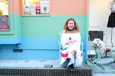 She's Mikki-chan,shop staff of PUNKCAKE,vintage s…