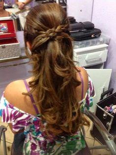 penteado para festa semi preso - Pesquisa Google