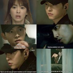 Instagram media by descendantsots - Descendants of The Sun - Episode 12 ☀️ ------------------------------------------- Sijin got mad after knowing that Argus hit Moyeon. He ordered his team to be ready to attack. But then, he found a set of bombs at Moyeon's vest.
