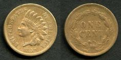 Description: Very desirable and rather rare extremely fine or better copper-nickel 1859 Indian Head small cent or penny. The reverse of the coin has the laurel wreath. The coin itself is much better t
