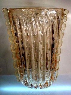 Giacobbe Barovier Toro Pink Gold Dust Cordonato Doro Art Glass