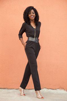 be1ed9a880d6 Black Quarter Sleeve Jumpsuit (Style Pantry)