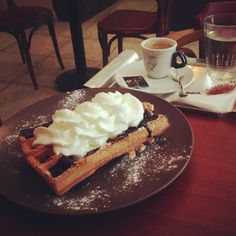 Kafec - you cannot go wrong with a waffle