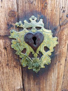 Heart-shaped key hole | Doors with personality. | Pinterest | Heart ...