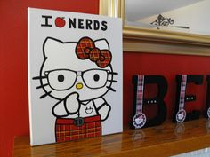 How great... A nerdy Hello Kitty party!