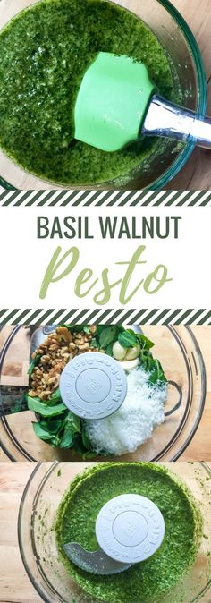 If you're looking for the perfect pesto recipe, you've found it! This 10-minute basil walnut pesto is so good and SO EASY. 10 minutes and five fresh ingredients, and you've got yourself the perfect summer sauce. (And it's freezer-friendly too!) via @homecookedhappy
