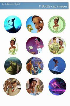 Free Disney Tiana digital bottle cap images