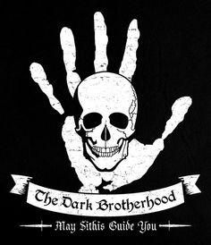 The Dark Brotherhood- the black hand was an actual assassination group. Elder Scrolls Skyrim, Elder Scrolls Online, Skyrim Online, Eso Skyrim, Scrolls Game, Dark Brotherhood, Gamer 4 Life, Vampire Masquerade, Bethesda Games