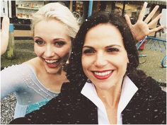 "Lana Partrilla: ""Let it snow! Let it snow! Let it snow!"" ... Georgina Haig #OnceIsFrozen #OnceUponATime #EvilRegals"""
