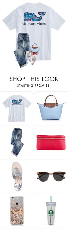 """""""12 days until I get my permit"""" by harknessl ❤ liked on Polyvore featuring Longchamp, Kate Spade, Jack Rogers, H&M, WALL and preppybylauren"""