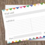 Tons of free recipe card printables, never buying these again