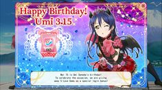 Happy Birthday Umi Sonoda 3.15
