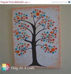 Hey, I found this really awesome Etsy listing at https://www.etsy.com/listing/178837320/on-sale-personalized-button-tree-canvas