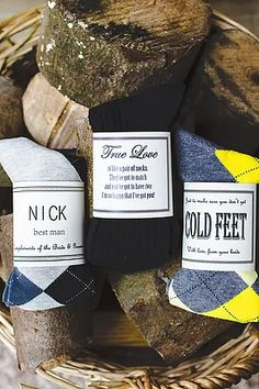 Personalised Socks - Fun, original (but useful) gifts for groomsmen, Best Man Gifts and Father of the Bride gift ideas
