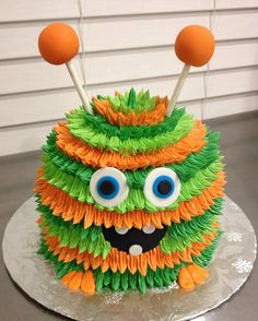 Let's be candid. Monster Smash Cakes, Monster Birthday Cakes, Little Monster Birthday, Monster 1st Birthdays, Monster Birthday Parties, Cake Smash, Halloween Cakes, Halloween Treats, Halloween Smash Cake