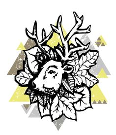 inked deer + graphic  by Madison Joy Davis