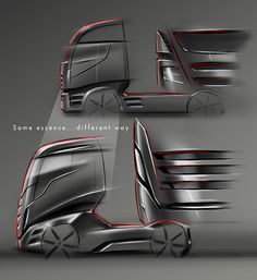 Concept about the new generation of Iveco Stralis Car Interior Sketch, Car Design Sketch, Truck Design, Ev Truck, Bike Sketch, Car Sketch, Future Trucks, Futuristic Cars, Commercial Vehicle
