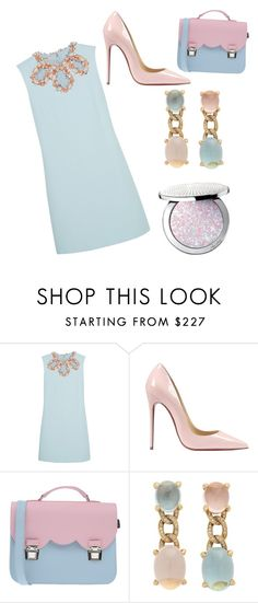 """Pastels"" by chooseyourstyle321 on Polyvore featuring Miu Miu, Christian Louboutin, La Cartella, Faraone Mennella by R.F.M.A.S., Guerlain, women's clothing, women's fashion, women, female and woman"