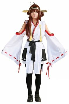 Halloween Fleet Girls Kongou Cosplay Uniform Skirt Suit Costume for Women S >>> Check this awesome product by going to the link at the image.