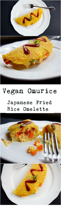 This veganized version of Omurice (Japanese Fried Rice Omelette) is easy, delicious, and a great way to use up extra rice!