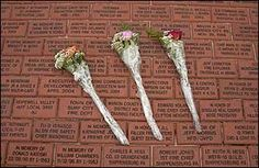 The park features a brick Walk of Honor® that connects the monument, the historic Fallen Firefighters Memorial Chapel, and memorial plazas. Memorial Park, Firefighters, Families, Foundation, Walking, Hair Accessories, Memories, Fall, Firemen