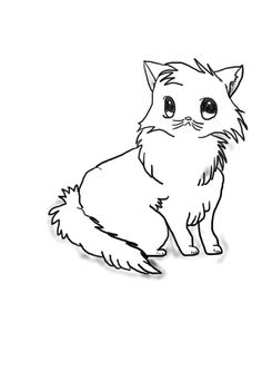 Anime style cat