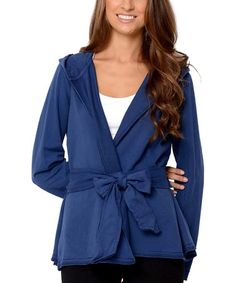 Look at this #zulilyfind! Midnight Blue Dharma Organic Hoodie by Avani #zulilyfinds