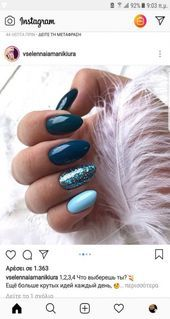 More than 22 fashion nails simple nailart blue # nails More than 22 nailart blue simple fashion nail Solid Color Nails, Nail Colors, Gel Nails, Manicure, Nail Polish, Winter Nail Designs, Cool Nail Designs, Nail Art Vernis, Nailed It