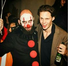 Bill Skarsgard at the after party for IT in Sweden. Bill Skarsgard Pennywise, Crush Facts, Roman Godfrey, Bae, Nick Robinson, Fascinator, Handsome, Celebs, Actors