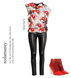 """""""Untitled #196"""" by tisshik ❤ liked on Polyvore featuring H&M, Simone Rocha and Jimmy Choo"""