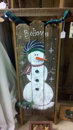 Snowman Sleigh CountryJoys