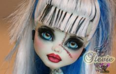 OOAK Monster High Frankie Stein Custom Repaint by Rogue Lively | eBay