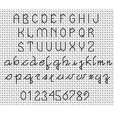 Joined Up Backstitch Font Chart (Small)
