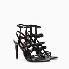 Image 1 of LEATHER HIGH HEEL SANDAL BOOTIE from Zara